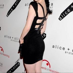 Alice and Olivia Ivy CutOut Back Mini Dress Zipper